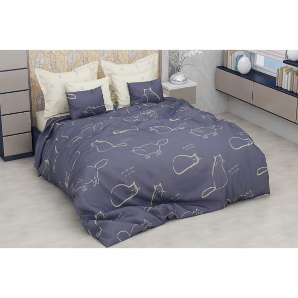 Комплект постельного белья SoundSleep Cute Cats бязь евро