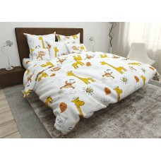 Bed linen for the bed Giraffes SoundSleep coarse calico