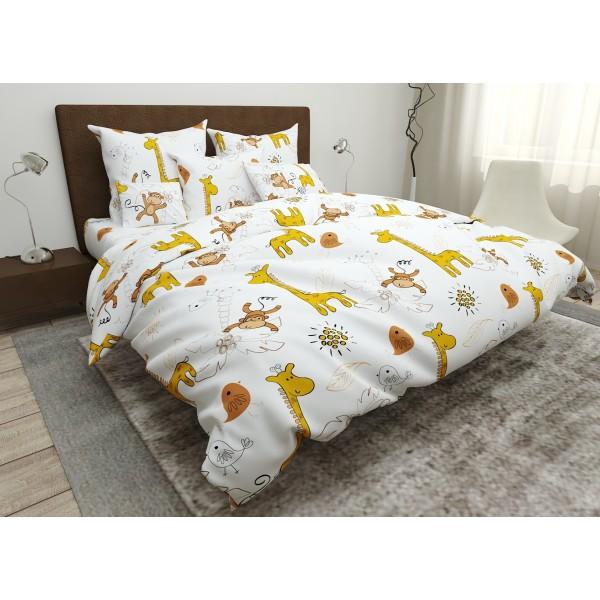 Комплект постельного белья в кроватку Giraffes SoundSleep бязь