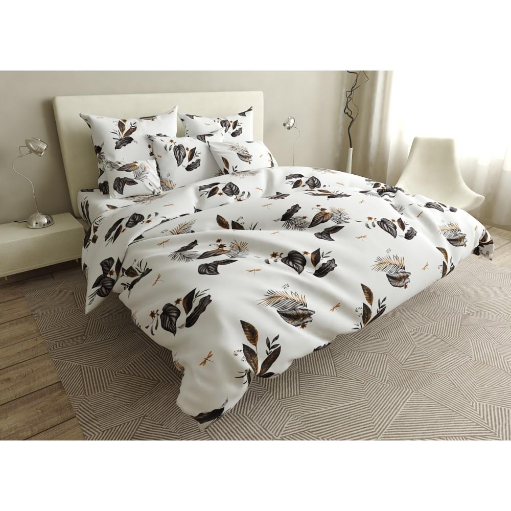 Комплект постельного белья Brown leaves SoundSleep бязь полуторный