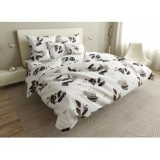 Bed linen set Brown leaves SoundSleep calico double