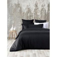 Комплект постельного белья Line Вlack SoundSleep сатин жаккард графит евро