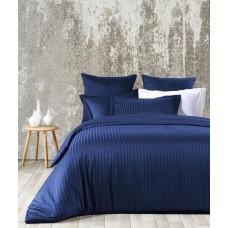 Комплект постельного белья Line Вlue SoundSleep сатин жаккард синий евро