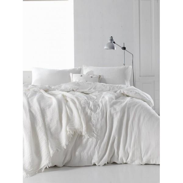Комплект постельного белья SoundSleep Muslin white полуторный