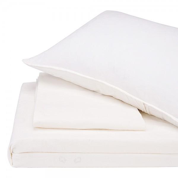 Комплект постельного белья Stonewash Jakard Snow white SoundSleep семейный