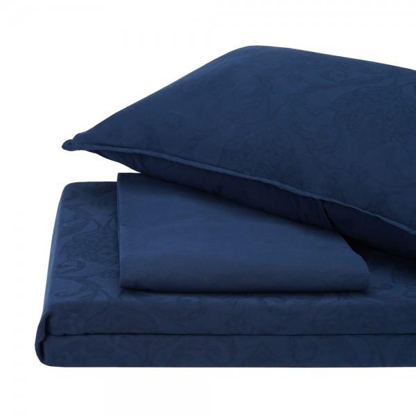 Комплект постельного белья Stonewash Jakard Dress blue SoundSleep семейный