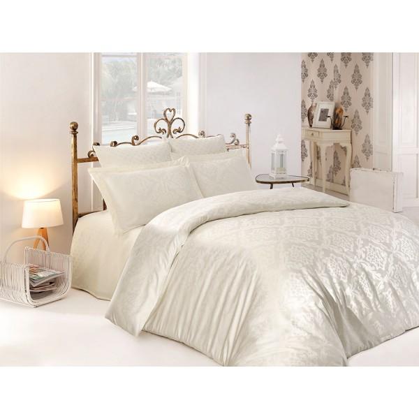 Комплект постельного белья сатин-жаккард Ottoman Cream SoundSleep евро