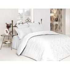 Bed linen set Ottoman White SoundSleep satin-jacquard euro