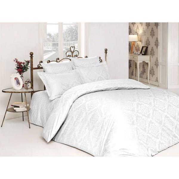 Комплект постельного белья сатин-жаккард Ottoman White SoundSleep семейный