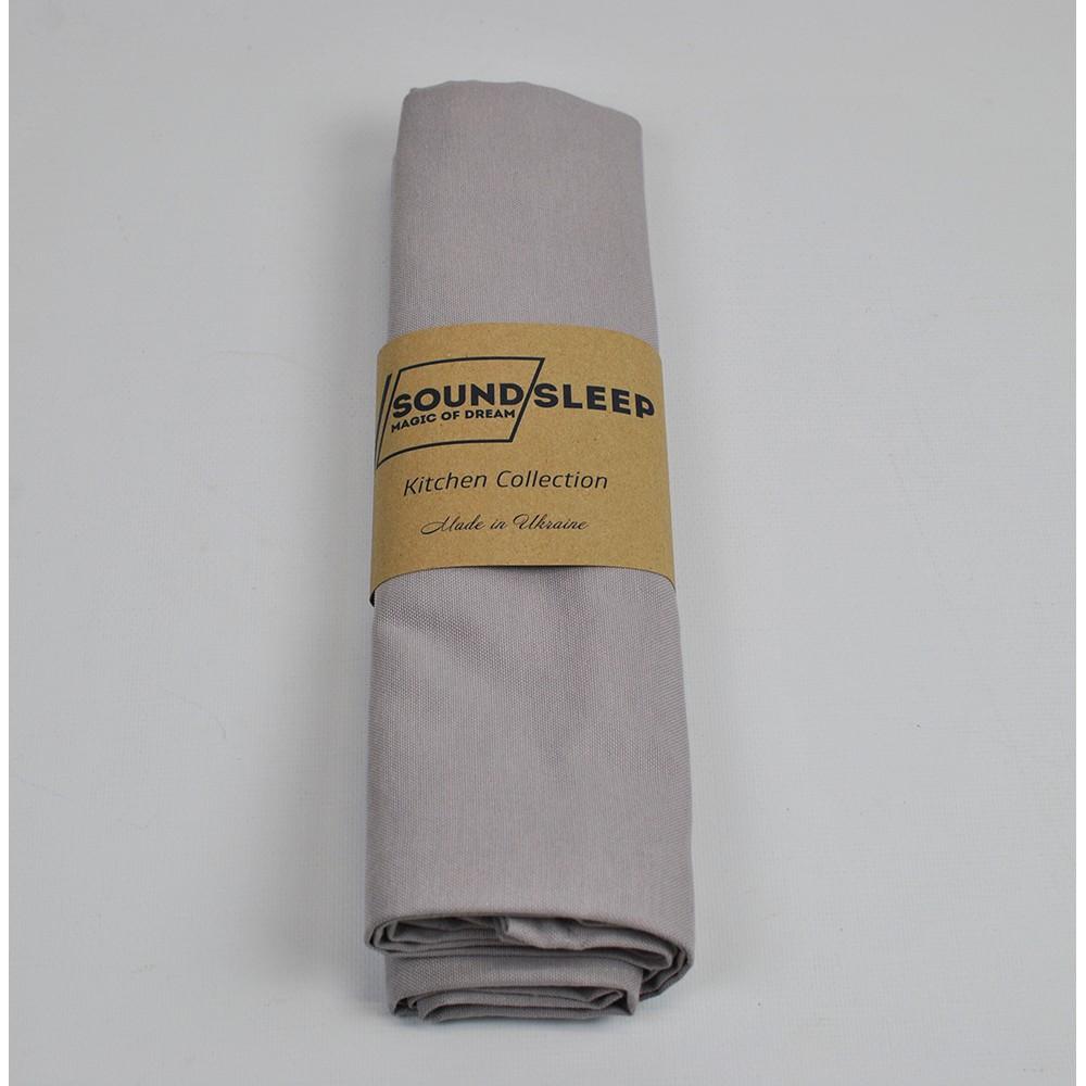 Скатерть водоотталкивающая Geneva SoundSleep серая 110х140 см