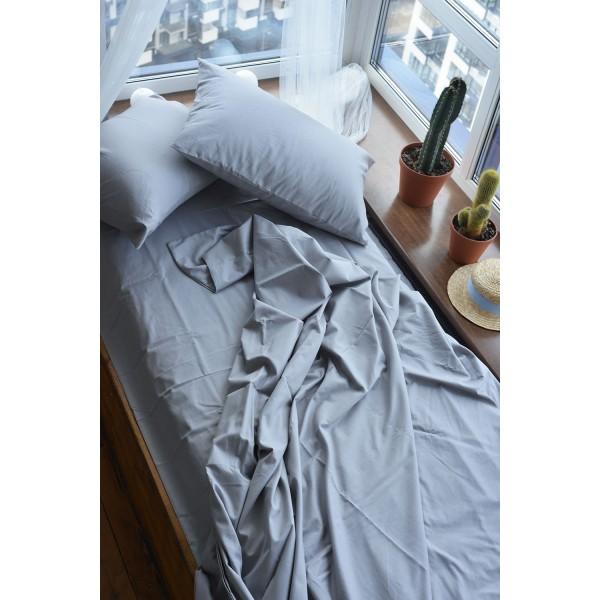 Простынь SoundSleep Dyed Grey ранфорс 200x220 см