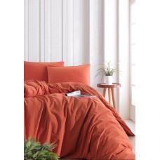 Комплект постельного белья SoundSleep Stonewash Adriatic полуторный orange кирпичный