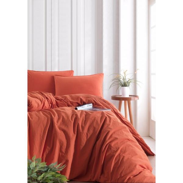 Комплект постельного белья SoundSleep Stonewash orange кирпичный семейный
