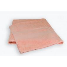 Махровая простынь Peach SoundSleep персиковая 200х220 см