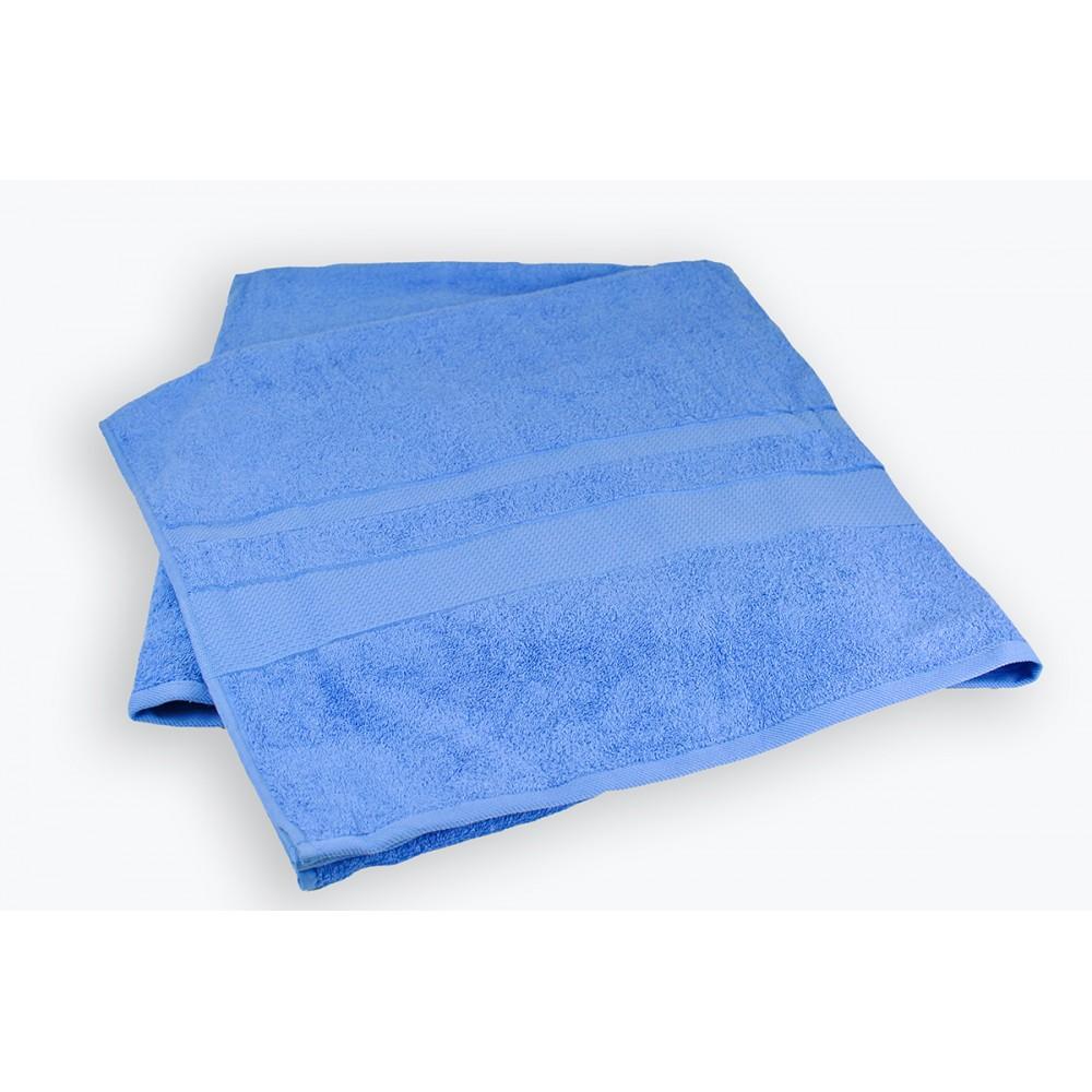 Махровая простынь Blue SoundSleep синяя 200х220 см