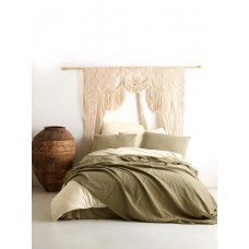Set of cotton bedspread with pillowcases SoundSleep Andalusia khaki