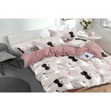 Sateen bed linen Happy Cats SoundSleep single