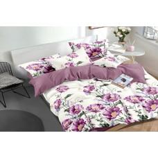 Sateen bed linen Purple flowers SoundSleep euro