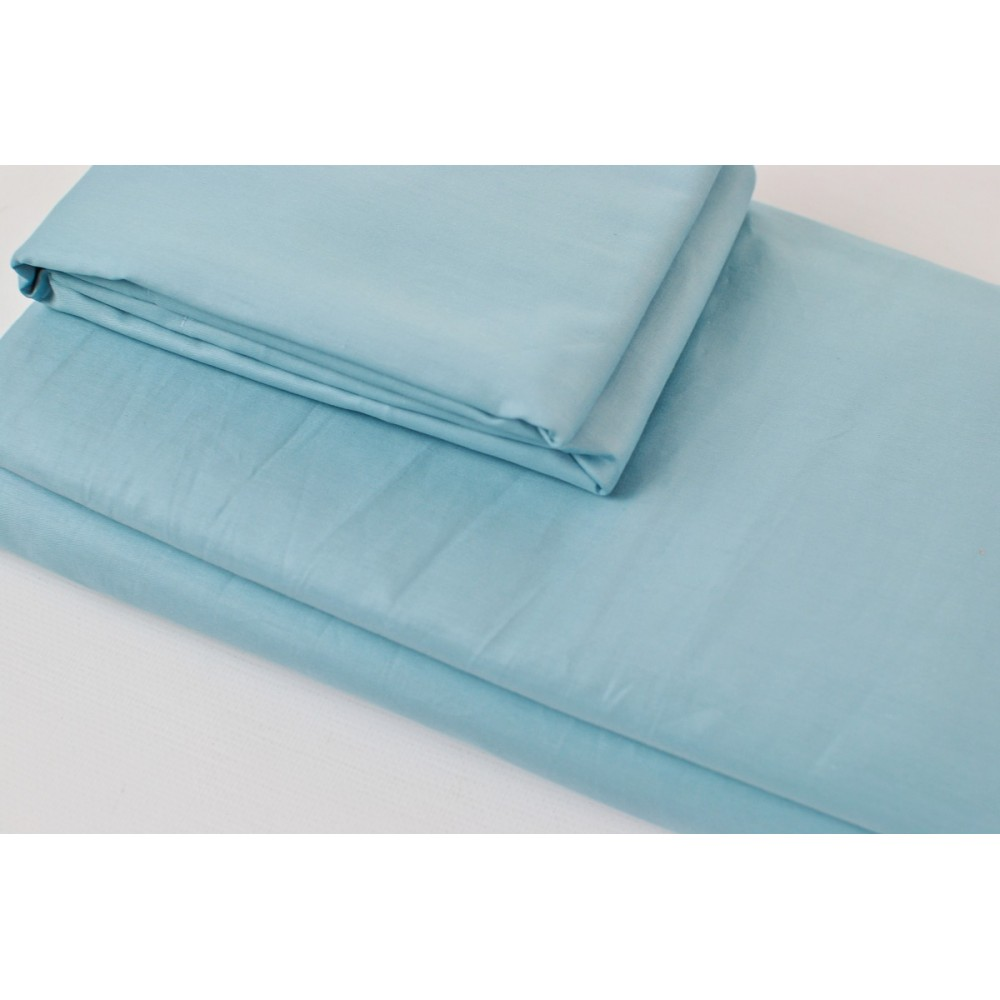 Простынь на резинке SoundSleep Shine сатин sky blue голубой 200х220 см