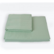 Duvet cover with zipper SoundSleep Shine satin light green 200x220 cm