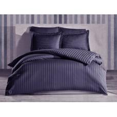 Bedding set SoundSleep satin-stripe Black single