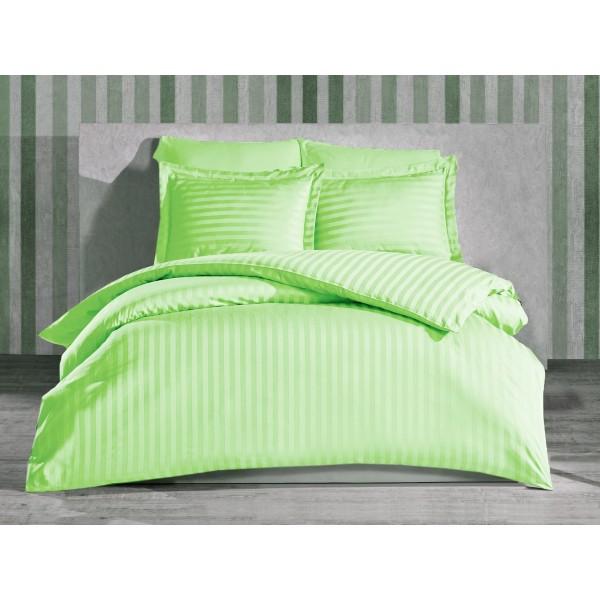 Комплект постельного белья Stripe Pistache SoundSleep сатин-страйп фисташковый евро