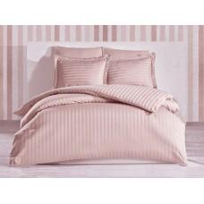 Комплект постельного белья Stripe Flour SoundSleep сатин-страйп пудровый евро