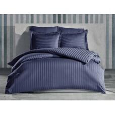 Bedding set SoundSleep satin-stripe Graphite single
