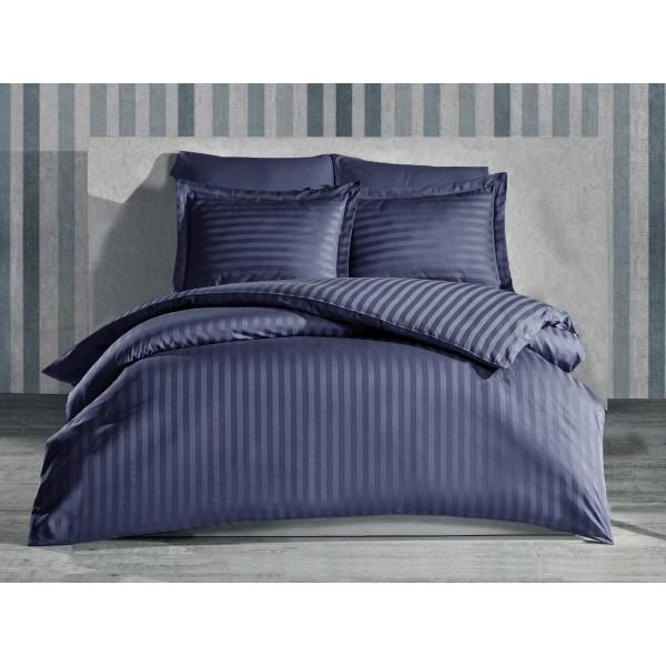 Комплект постельного белья Stripe Graphite SoundSleep сатин-страйп графит евро