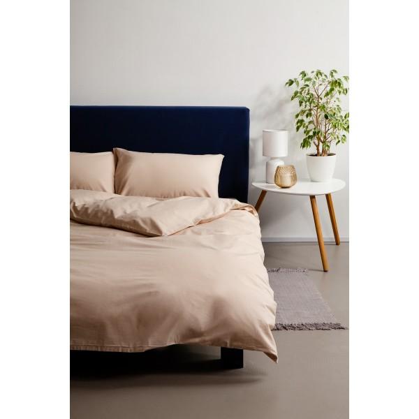 Комплект постельного белья SoundSleep сатин Mousse кремовый евро