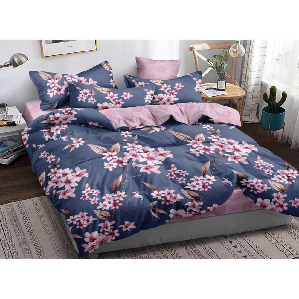 Хлопковое постельное белье Zila SoundSleep с сатиновым плетением двуспальное