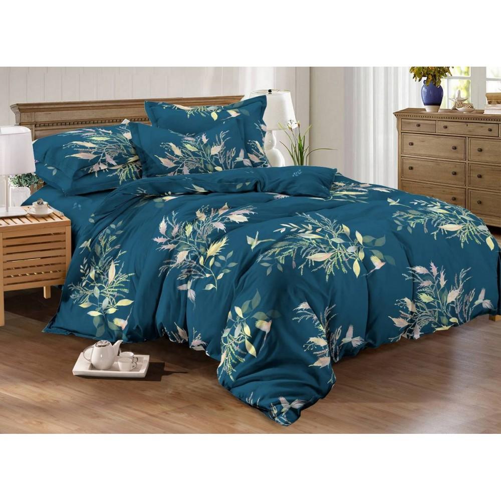 Хлопковое постельное белье Nicosia SoundSleep с сатиновым плетением евро