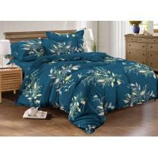 Хлопковое постельное белье Nicosia SoundSleep с сатиновым плетением двуспальное
