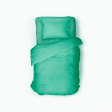 Bed linen set Stripe Madina SoundSleep satin stripe green euro