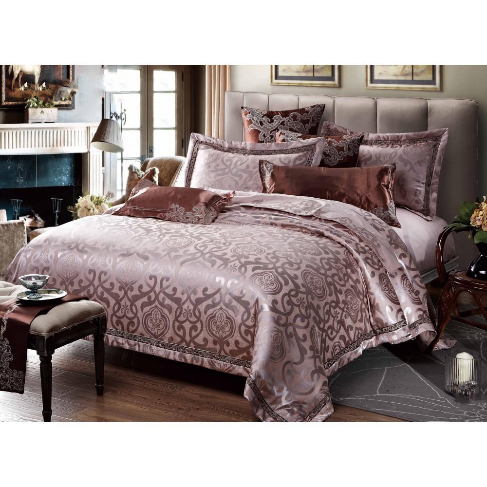 Хлопковое постельное белье Russona rose SoundSleep из жаккардового сатина полуторное