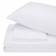 Bed linen set satin Lelitt white SoundSleep euro