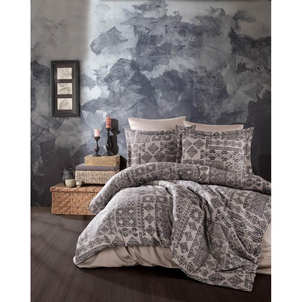 Комплект постельного белья SoundSleep Route antrasit сатин евро