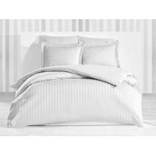 Bed linen set Stripe White SoundSleep satin stripe white euro