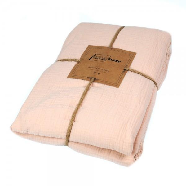 Покрывало хлопковое SoundSleep Muslin pastel pink 200х260 см