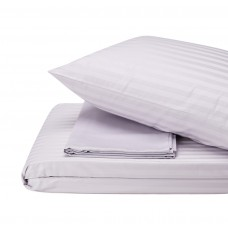 Bed linen set Stripe Madina SoundSleep satin stripe grey euro