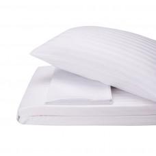 Bed linen set Stripe Madina SoundSleep satin stripe white euro