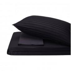 Bed linen set Stripe Madina SoundSleep satin stripe black euro