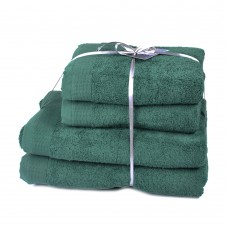 Terry towel set Elation Forest TM SoundSleep dark-green 600g