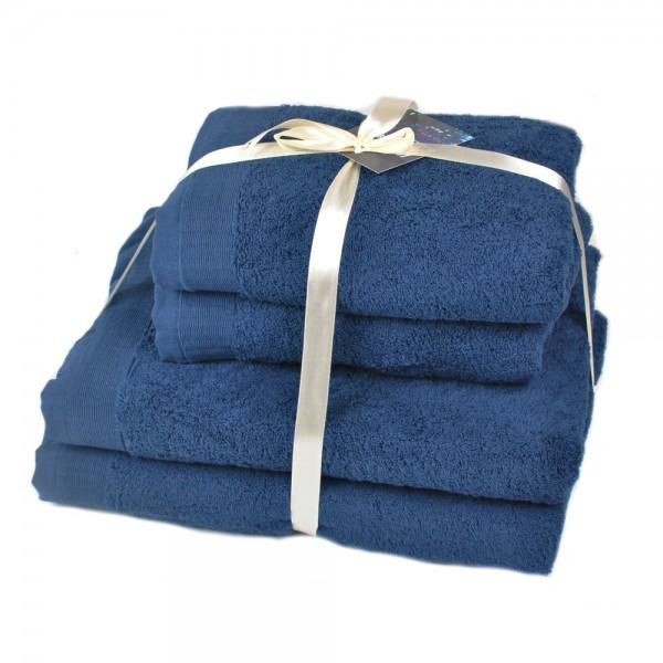 Набор махровых полотенец Elation Sapphire ТМ SoundSleep темно-синий 600г