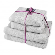 Terry towel set Elation Silver TM SoundSleep light gray 600g