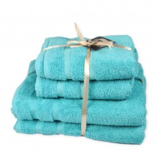 Terry towel set Homely Aguarelle TM SoundSleep turquoise 500g