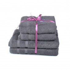 Terry towel set Homely Ebony TM SoundSleep graphite 500g
