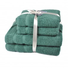 Terry towel set Homely Forest TM SoundSleep dark-green 500g