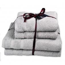 Terry towel set Homely Silver TM SoundSleep light gray 500g