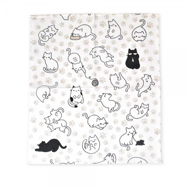 Полотенце вафельное кухонное Funny cats ТМ Emily 40х50 см